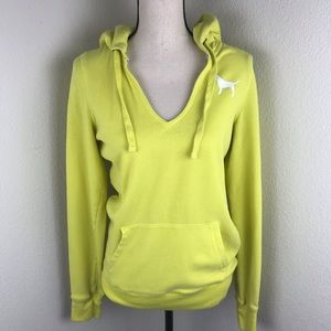 Pink by Victoria Secret Yellow Hoodie Size M